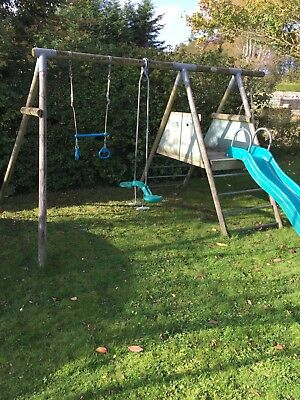 TP Wooden climbing frame swing, slide, sky rider, seat swing, trapeze
