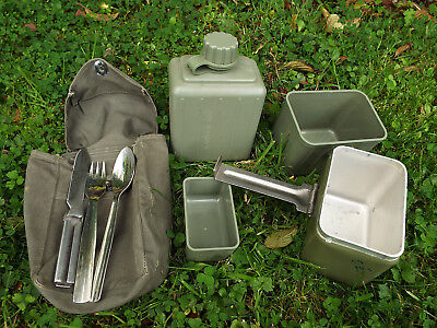 ARMY Mess Tin Set inc Water Bottle Cutlery Pouch GREAT for Camping Bushcraft etc