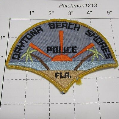 Old Daytona Beach Shores Police Dept Dbs Dbspd Sun Vintage Rare Florida Patch