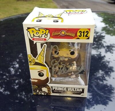 pop funko figure FLASH GORDON PRINCE VULTAN BRIAN BLESSED SIGNED YOU PERSONALLY