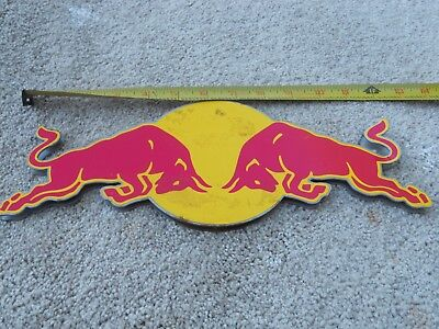 Red Bull Energy Drink Metal Double Sided Sign Wall Display Bar Man Cave