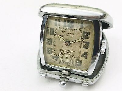 Antique Enicar Chronometer  Pop Up Folding Bedside Watch Clock