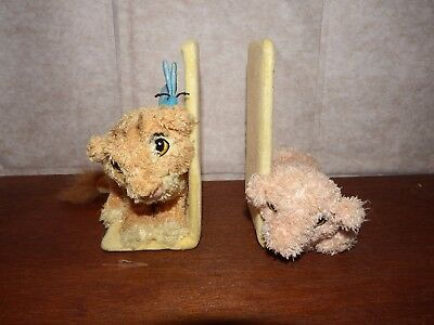 RARE Disney Lion King book ends Nala and Simba soft plush figure toy display