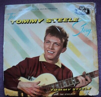 An Original Tommy Steele,the Tommy Steele Story,on The Blue Decca Record Label.