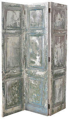 Old Door  Hand Painted Wood Screen Divider,40'' X 77''tall.