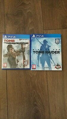 Tomb Raider / Rise Of The Tomb Raider Ps4 .excellent Condition
