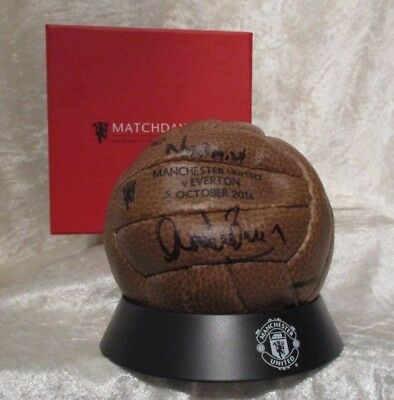 Matchday Vip Manchester United V Everton 5 October 2014 Boxed Miniature Football