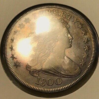 1800 Draped Bust Silver Dollar. Early Date. Best Coin Found. marked uncirculated