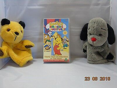 Sooty And Sweep Hand Puppets And Vhs Video 044005802634