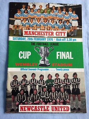 28/02/1976 Manchester City v Newcastle League Cup Final Programme