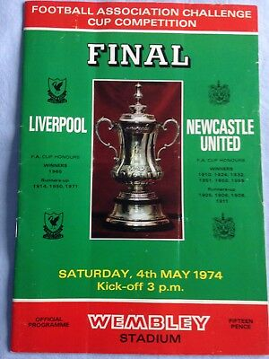 04/05/1974 Liverpool v Newcastle United FA Cup Final Programme