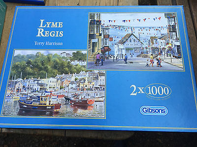 Gibsons Lyme Regis 2 x 1000 piece jigsaw puzzles by Terry Harrison