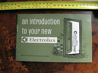 Electrolux Model 89 Instructions