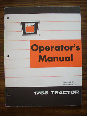 Oliver 1755 Owners Manual