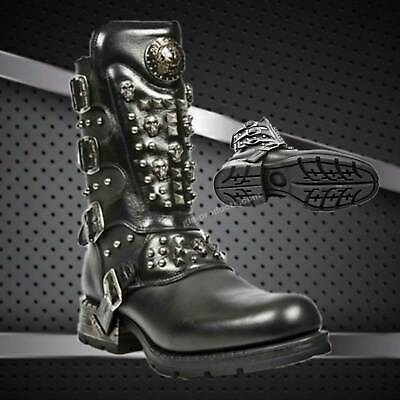 MR019 New Rock Engineer Boots Stiefel Gothic Streetfighter Leder Reissverschluss