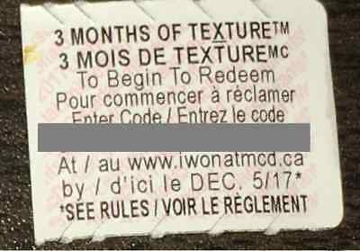 McDonalds Monopoly 2017 Canada - 3 Months of Texture