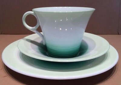 Shelley Bone China Regent Shape Green Swirl Trio