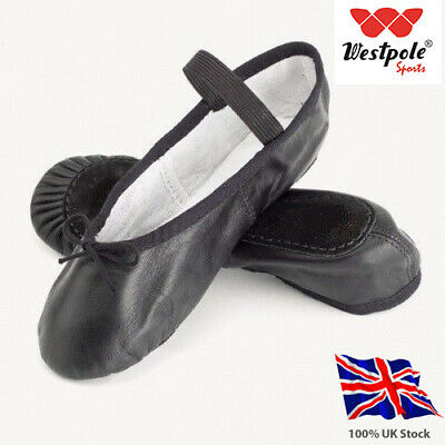 Black Leather Ballet Shoes Child and Adult Sizes. Full leather Sole. Soft inside
