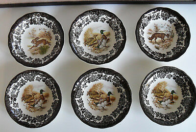Royal Worcester Palissy Game Series 6 Dessertschalen