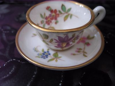 Hammersley, vintage, miniature bone china tea cup and saucer