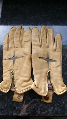 "Pair Of Gents Vintage Leather Gloves ""cathedral"" Brand Large"