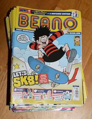 Beano 74 issues from 2016 and 2017 - good condition