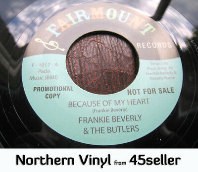 ♚ FRANKIE BEVERLY promo 'Because Of My Heart' Northern Soul 45 HEAR