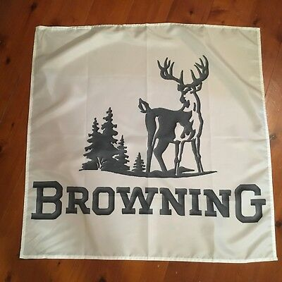 Browning riflel gun sign 30x30 inch man cave pool room flag smith and Wesson