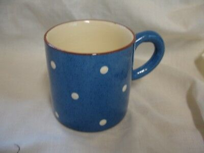 VINTAGE 1970s SMALL BLUE WITH WHITE SPOTS DARTMOUTH  POTTERY MUG