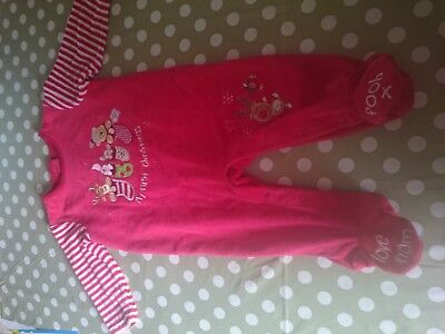 Disney store pooh 6-9 months baby first Christmas