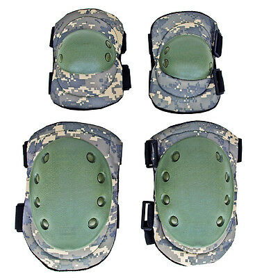 Advanced Tactical Elbow & Knee Pads - Duty Gear Safety Protection Pads ACU Digi*