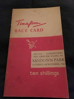Sandown 1965 Arkle's Greatest Win Timeform Card