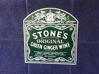 Vintage Stones Original Green Ginger Wine Label. Angove S.a 750 Ml