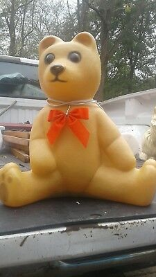 Union Products Christmas Teddy Bear Blow Mold Lighted  1988