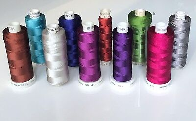 MADEIRA classic No 40 machine embroidery threads. 10 spools.