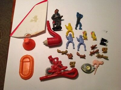 Vintage Rmco Plane Toy Lot  Disney Space Capsule Squirrel  Clown Pipe Cereal Toy