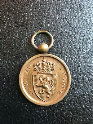 Stunning Belgian Medal For Army Service During Franco-Prussian War....Lovely!