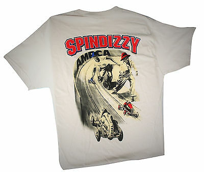 NEW Dooling Spindizzy Tether Race Car T-Shirts Lt Gray Printed in USA Size X-L