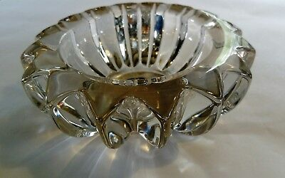 art glass small bowl or vase Pierre d'Avesn Davesn chunky shiny crystal art deco