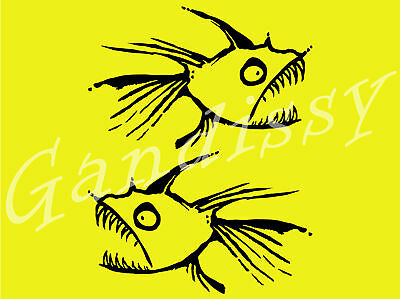 """2no HOT TUNA Decals/Stickers 5""""x8"""" All Colours SURF/SK8/CAR"""