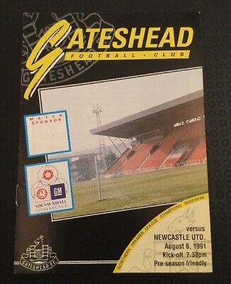 Gateshead v Newcastle United 06/08/91 Cancelled Game