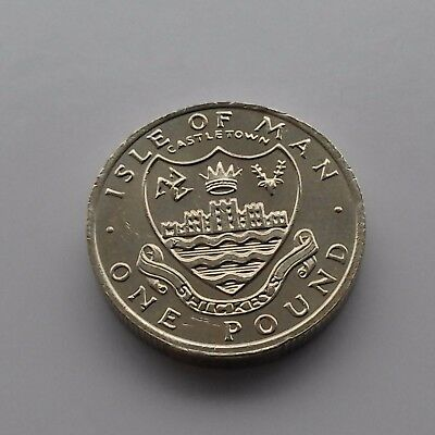 1984 ISLE of  MAN £1 One Pound Coin – UNC – CASTLETOWN
