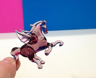 Pegas figurine blown glass Souvenir Russia handmade high quality horse miniature