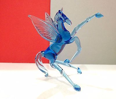 Pegas figurine blown glass Souvenirs from Russia handmade high quality horse