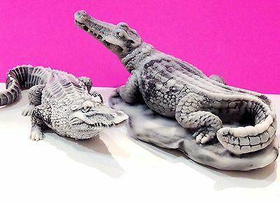 Crocodiles Alligators figurines marble chips Souvenirs Russia for collection