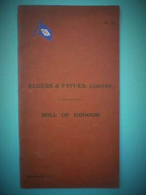 WW1 Elders & Fyffes Shipping Roll of Honour Liverpool Pals, MGC, RFC etc..