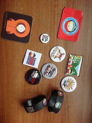 South Park badges, magnets, coaster, card holder and unisex bracelets - Job lot