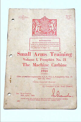 Original 1942 British Small Arms Training Manualvolume 1 No 21