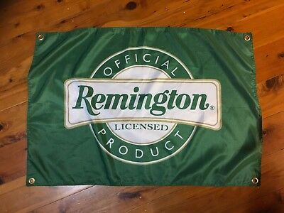 Remington pistol gun sign 3x2 ft man cave pool room flag smith and Wesson 38 45