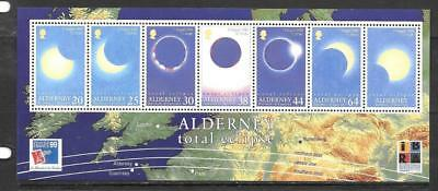 ALDERNEY - 1999.  Total eclipse of the Sun - Miniature Sheet, MNH